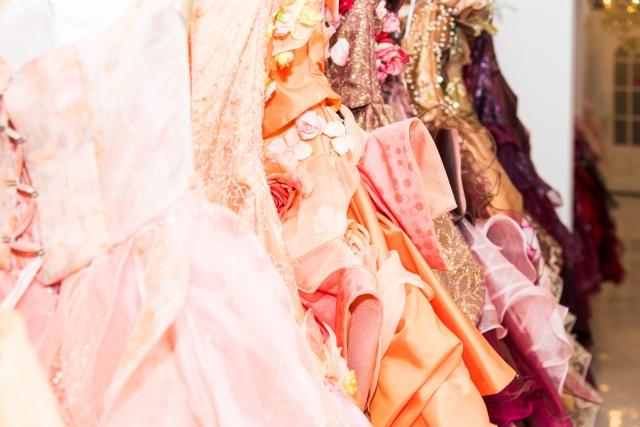 花柄カラードレスがかわいい